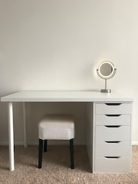 Ikea computer or vanity desk with Alex drawers  Arlington, 22204