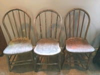 Three antique country chairs St. Louis, 63129