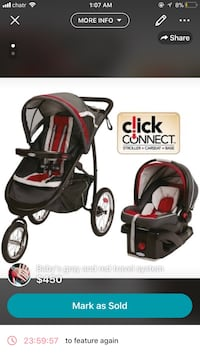 baby's red-and-black travel system screenshot