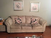 brown fabric 3-seat sofa Vaughan, L4L