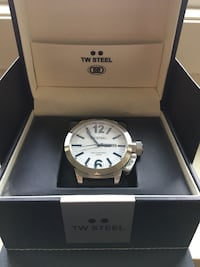 Authentic TW Steel Leather Large Men's Watch Like New! Calgary, T2R 1K6