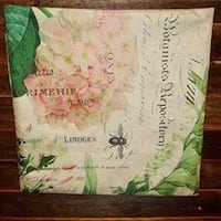 """NEW Shabby Floral 17"""" x 17"""" Pillow Cover Oklahoma City, 73012"""