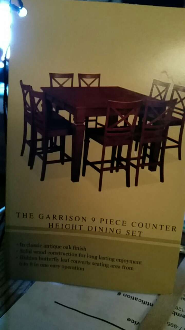 Exceptional 9 Piece Garrison Counter Height Dining Set
