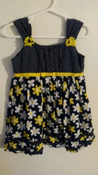 black, white, and yellow floral sleeveless dress Durham, 27707
