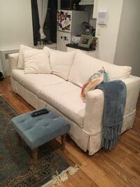 2-seat sofa/queen bed-Crate and Barrel - willow queen sleeper snow. Bought 6 months ago for $2200 New York, 10024