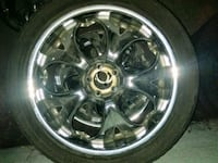 chrome multi-spoke car wheel with tire Hermosa Beach, 90254