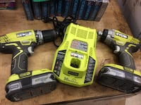 Ryobi P [TL_HIDDEN]  batteries P117 class 2 battery charger . Used.tested . In a good workingorder  Baltimore, 21205