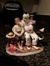 white and red ceramic figurine Rockville, 20850
