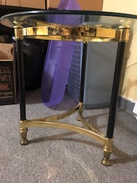 Glass top table / end table