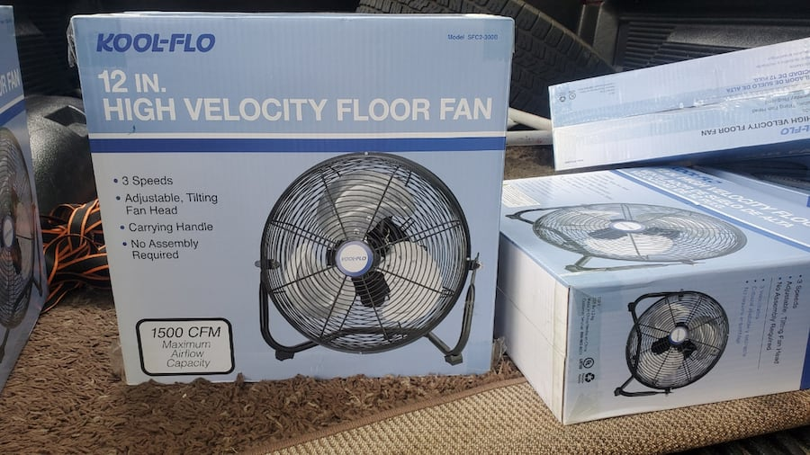 12 in small high velocity metal fans 0