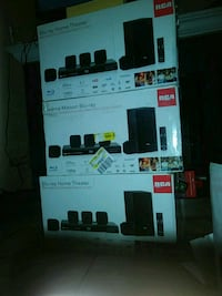 black and gray home theater system box Moreno Valley