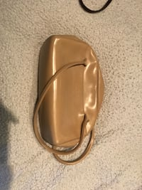 Beige leather purse. Vaughan