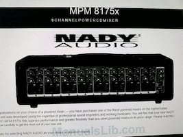 Nady audio 8 channel posted mixer