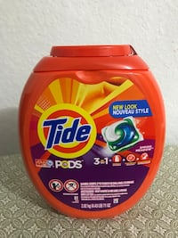 Tide pods 3-in-1 plastic container Seattle, 98118