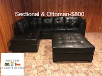 Brand New Black Stationary Sectional w Ottoman! Des Plaines, 60016