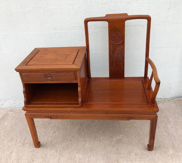 Used Solid Rosewood Asian Gossip Chair
