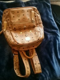 brown MCM leather backpack and belt Toronto, M3M
