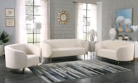 Lavilla Velvet Cream Living Room Set   Jessup, 20794