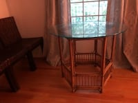 Table w/Glass top OSSINING