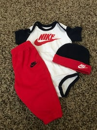 white, red, and black Nike jersey Stockton, 95207