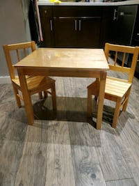 Wooden Kids Table with 2 Chairs Richmond, V6Y 2X9