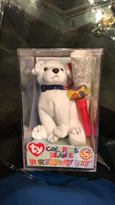 Color Me Beanie Birthday Kit Ty beanie baby