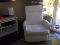 White Ikea Leather Recliner