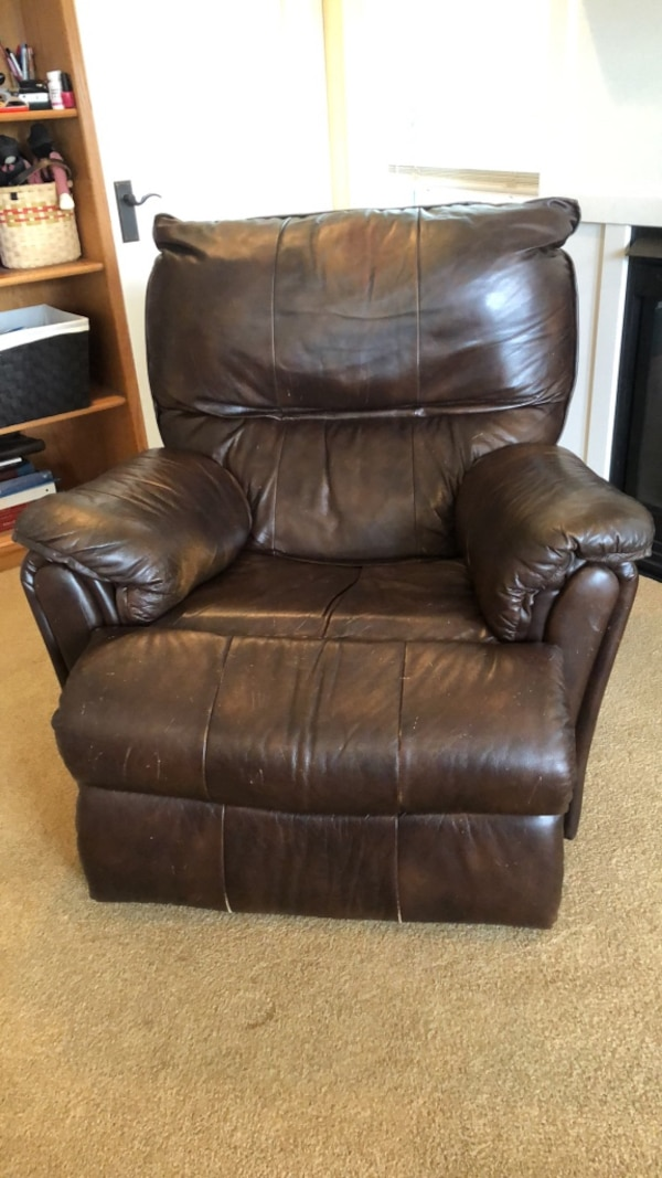 Remarkable Brown Leather Recliner Sofa Chair Bralicious Painted Fabric Chair Ideas Braliciousco