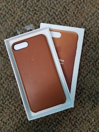 Brand new iPhone 8 plus leather case brown Ottawa