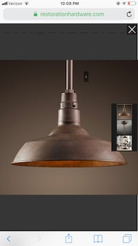 Vintage Barn Pendant Light - Restoration Hardware Arlington, 22205