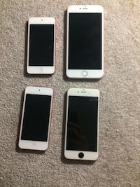silver iPhone 6, rose gold iPhone 6s Plus, and two red iPod Touch's Sacramento, 95826