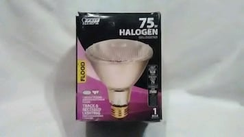 50 w/75 w (long)/75 w short Halogen bulbs for track and recessed lihht