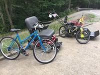 blue and green mountain bikes Point Marion, 15474
