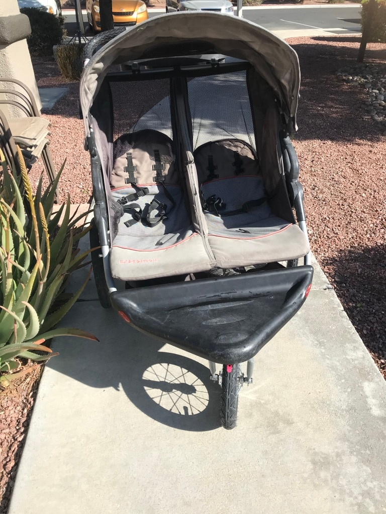 Photo Baby double stroller