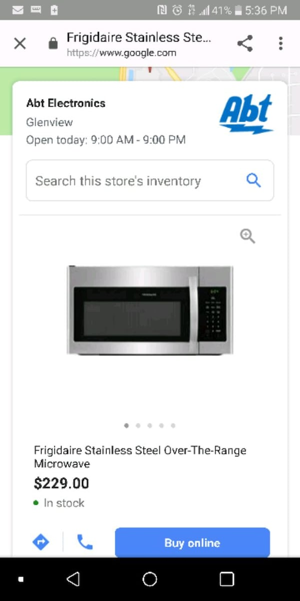 Frigidaire over the range microwave never used 91845701-cd92-4d0b-a677-16d832d7650a