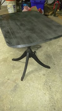 round black wooden pedestal table  395 mi