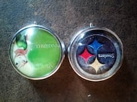 Tinkerbell and pittsburg steelers pil containers only $5 each!! Clackamas