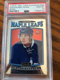 Auston Matthews opc platinum Rookie Graded 10 Toronto, M6H 2V8