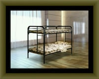 Twin bunk bed frame with mattress Adelphi, 20783