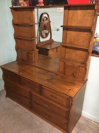 Solid wood dresser with mirror  Edgewater, 32132