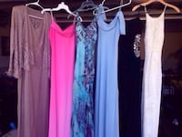 Six gowns $275 buys all 6 gowns (3 new never worn+3 worn once)  Formal gowns in beautiful fabrics and colors. There are 6 formal full length dresses/gowns for a prom, dance, or wedding etc. I also have many semi formal dresses for dances (for girls in ele Columbus, 31909