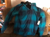 blue and black plaid button-up shirt Stockton, 95209