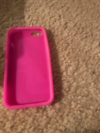 pink and white iPhone case
