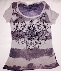 women's white and black floral tank top FORTWORTH