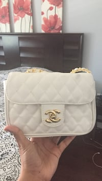 white Chanel leather bag Delta