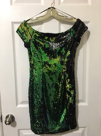 Multicoloured sequined dress - size S