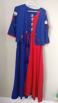Red and blue full gaown two pease  ... With jecket Mississauga, L5M