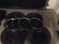 4 winter  Michelin tires 205 /55r16, 16 ich wheel caps and rims  very good condition  Laval, H7G 0C6