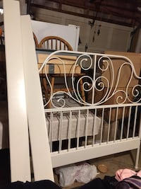 white metal bed headboard and footboard 24 km