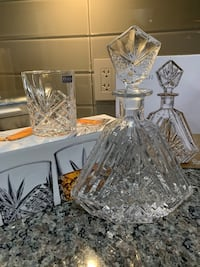 Crystal decanter and set of 4 glasses Vaughan, L4H 2P8